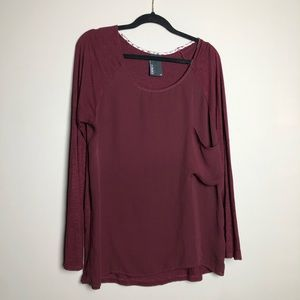 Anthropologie Dolan large pocket long sleeve top